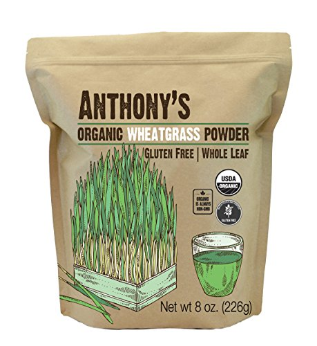 Anthony's Organic Wheatgrass Powder, 8 oz, Grown in USA, Whole Leaf, Gluten Free, Non GMO