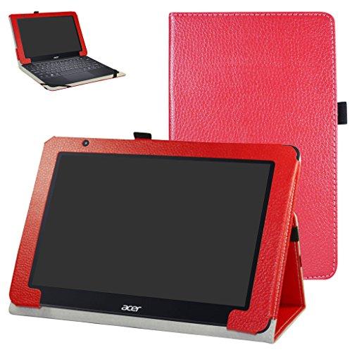 Acer One 10 S1003 Custodia,Mama Mouth slim sottile di peso leggero con supporto in Piedi caso Case per 10.1' Acer One 10 S1003 Windows 10 Tablet 2016,Rosso