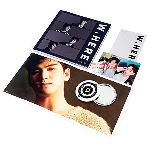 NU'EST W Album - W, HERE [ Portrait Ver. ] CD + Photobook + Mini Photobook + Photocard + Poster(On Pack) + FREE GIFT / K-pop Sealed