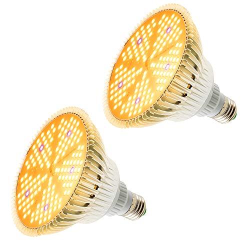 Pflanzenlampe LED,2 Pack 100W Pflanzenlicht Pflanzenleuchte Wachstumslampe,150LEDs Wachsen licht Grow Lampe Vollspektrum für Zimmerpflanzen, Gewächshaus,Hydroponische Pflanzen und,Blumen