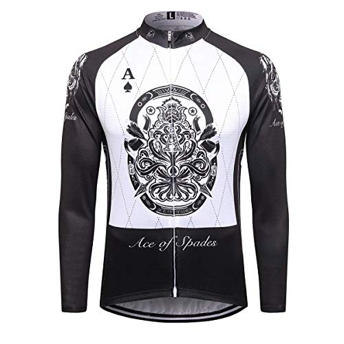 Sports Thriller Rider T.R.S Ropa de Ciclismo para Hombre Ciclismo Maillot Manga Larga 4X-Large