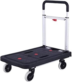 BTYAY Folding Rolling Flatbed Cart Hand Platform Truck Push Dolly for Loading