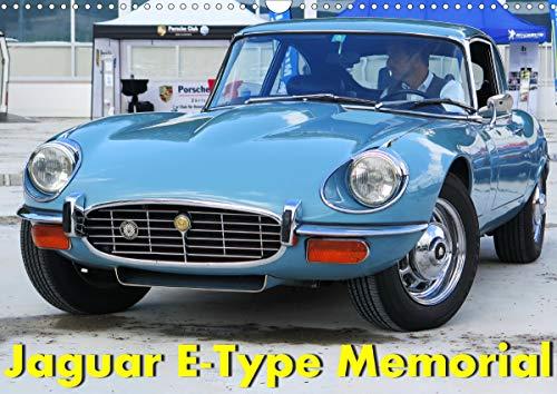 Jaguar E-Type Memorial (Wandkalender 2021 DIN A3 quer)