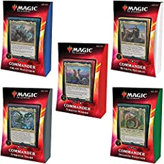 Choose from 15 fierce Commanders from Ikoria: Lair of Behemoths (IKO) to lead your decks to victory—10 legendary creatures and 5 Commander and monster pairs that share a magical bond. Commander is a Magic: The Gathering (MTG) multiplayer format where...