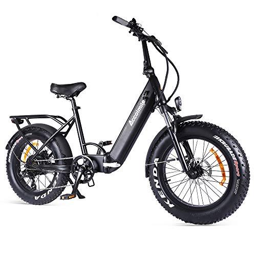 Accolmile Elektrofahrrad Klapprad Ebike Elektrofahrräder Klappräder Faltrad 20 Zoll, BAFANG 48V 750W Bürstenloser Hinterradnabenmotor, 14Ah 672Wh Lithium-Ionen-Batterie, 7-Gang Schaltung von Shimano