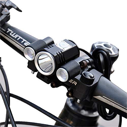 Mountain Bike Lights,Bike Light of DC Connector Waterproof Bicycle Lights,Double Bracket Fixed Cycling Bike Accessories Flashlight
