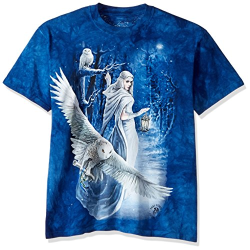 The Mountain Midnight Messenger Adult T-Shirt, Blue, 2XL