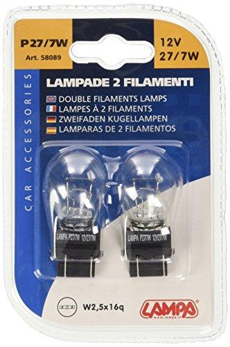 Preisvergleich Produktbild Lampa 58089 Glühlampe,  2 Glühfäden,  P27,  7 Watt,  12 Volt
