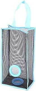 Prettyia Hanging Folding Mesh Garbage Bag Storage Bag Trash Bags Holder Blue (S)