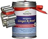 Herbaria 'Ginger & Bread 'Ingwer Kekse Gewürzmischung, 1er Pack (1 x 55 g Dose) - Bio