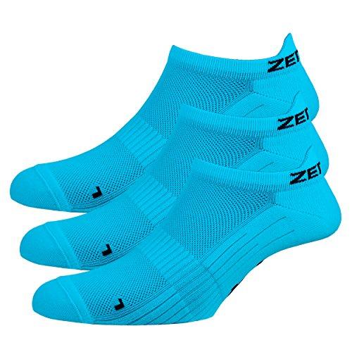 Zen Core blaue Sneaker Füßlinge 3, 6, 12 Paare, Größe 40-43 und 44-47 für Herren, kurze Socken, Sport&Freizeit, Laufsocken, Fitness, Fahrradfahren, Running Socken, Atmungsaktiv, Antiblasen