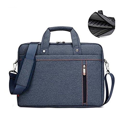 17.3' Waterproof Shockproof Roomy Stylish Laptop Shoulder Messenger Bag Handle Bag Tablet Briefcase For 17 Inch Laptop/Tablet/Macbook/Surface (Blue)