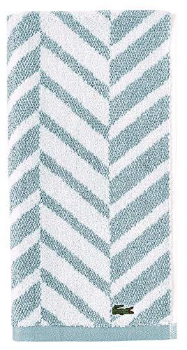 Lacoste Herringbone 100% Cotton Towel, 16x30 Hand, Celestial Blue