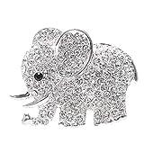 KANKOO Lufterfrischer Auto Strass Elefant Lufterfrischer Clip Metall Nützlich Und Praktisch Auto Parfüm Clip Für Badezimmer Schlafzimmer Und Mehr Situation Silver