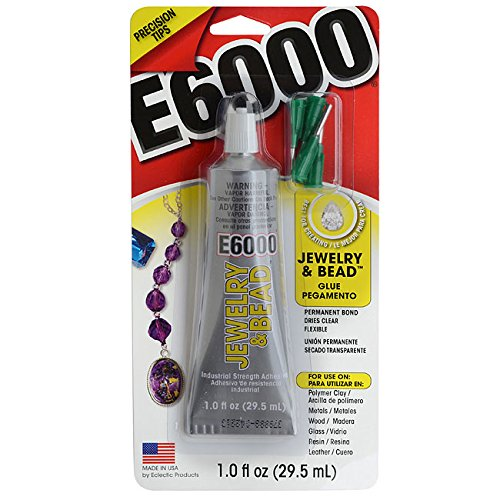 E6000 Jewelry And Bead Adhesive With 4 Precision Applicator Tips For Jewelry! (Original Version