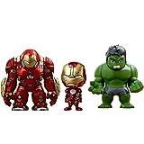 Hot Toys - Figurine Marvel Avengers Age of Ultron - Pack de 3 Cosbaby Hulk / Iron Man Mark XLIII / Hulkbuster 14cm - 4897011176987