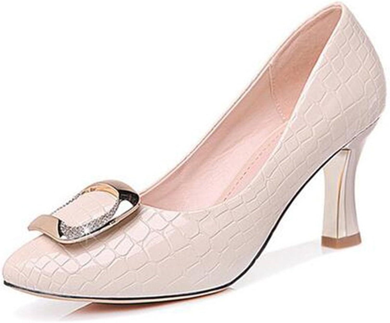 Frauen Schuhe Künstliche PU Frühling Herbst Damen High Heel Spitzen High Heels Platz Schuhe Mutter Schuhe Arbeitsschuhe Frauen Casual Einzelne Schuhe (Farbe   Beige, Größe   38) B07D6GMG1Z  Neuer Markt