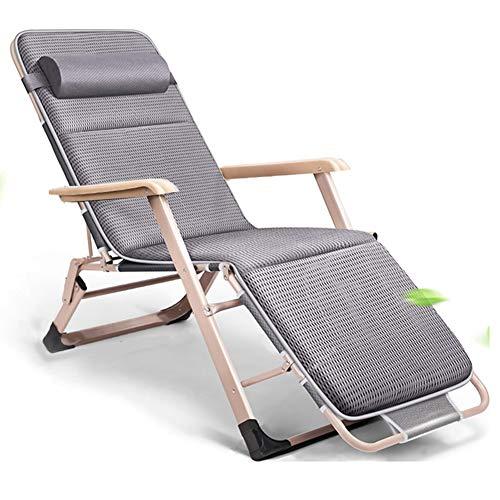XJBHD Liegestuhl Klappbar Leicht zu tragen Klappliegestuhl für Wohnzimmer und Außenterrasse Camping Garten Strand SonnenliegeStyle 2