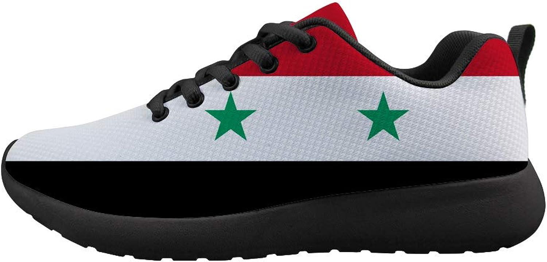 Owaheson Cushioning Sneaker Trail Running shoes Mens Womens Syrian Flag