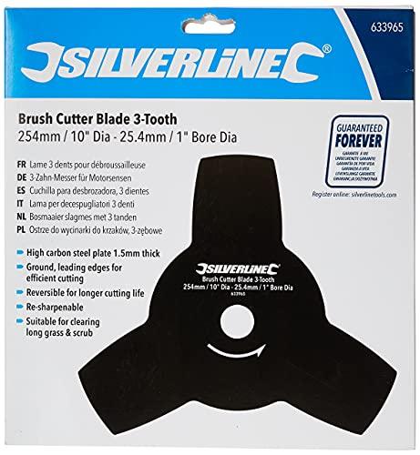 Silverline Tools 633965 - Disco para desbrozadora de 3 dientes (Agujero Ø25,4 mm)