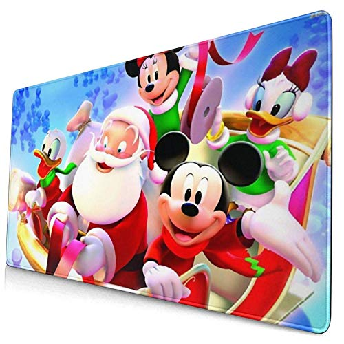 Alfombrilla para ratón para juegos, Base de goma antideslizante de la navidad de la historieta MI-CKEY MOU-SE, Mousepad de la estera impermeable y plegable del teclado, estera de escritorio, para escr