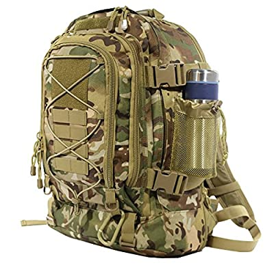 ARMYCAMO 40L Outdoor Expandable Tactical Backpack Military Sport Camping Hiking Trekking Bag (08001 Multicam)