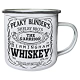 DKISEE Enamel Camping Mug Peaky blinders whiskey shelby bros Drinking Mugs for Home Use Office Party Outdoor Mountaineering 10oz