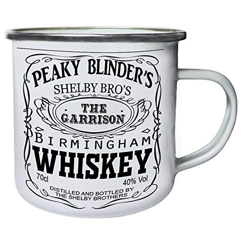 DKISEE Enamel Camping Mug Peaky blinders whiskey shelby bros Drinking Mugs for...