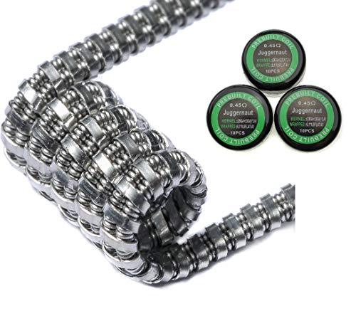30x Juggernaut Coils aus KA1 0,45Ohm Widerstand Fertigcoils Draht Wickeldraht Wicklungen Selbstwickler (30x Juggernaut)