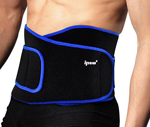 Ipow-Faja de Neopreno Adjustable para la Cintura/Espalda/Lumbar