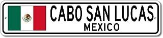 Cabo San Lucas, Mexico - Mexican Flag Street Sign - Aluminum 4
