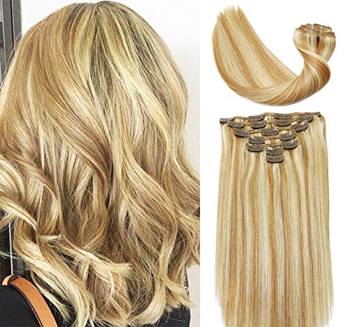 Vario Clip In Hair Extensions New Version Thickened 120g- 16 18 20 22 Inch Real Human Hair Extensions Clip in Clip On Silky Straight Weft Remy Hair Ul