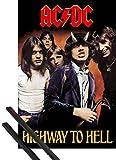 1art1 AC/DC Póster (91x61 cm) Highway To Hell Y 1 Lote De 2 Varillas Negras