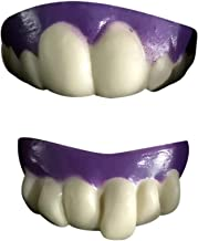 Unionm Halloween Toys, Halloween Props, 2pc Prank Vampire Teeth Zombie Front Teeth Plastic Soft Tooth Braces DIY Decoration Toys Ghost's Day Haunted House Decoration for Party Bar (Purple)