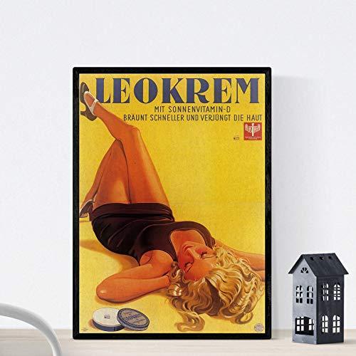Vintage poster Nacnic. Leokrem Oostenrijk 1934 vintage advertentie formaat A3