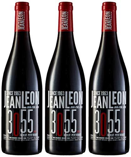 Jean Leon 3055 Merlot, Vino Tinto Ecológico - 3 botellas de 75 cl, Total: 2250 ml