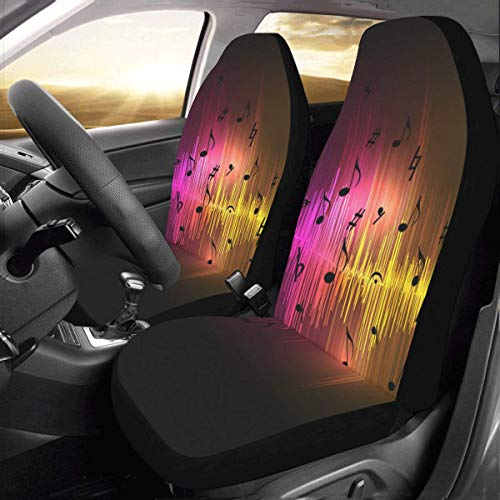Artsadd Music Equalizer Waves Car Seat Covers (Set of 2) Best Automobile Seats Protector