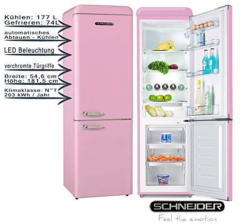 Schneider Kühl-Gefrierkombination SCB250V2P Pink 251 Liter 181,5 cm EEK: A++