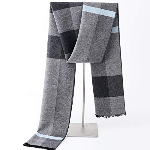 XUJJA 2019 Neuer Winter Herren-Schal Winter gebürstet doppelseitig Kaschmir-Schal authentische koreanische (Color : R714#Grey, Size : 180 * 30CM)