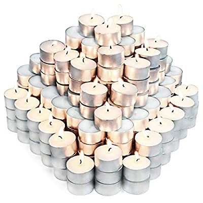 Unscented Tea Lights Candles for Candle Holder, 6H 200pack Long Lasting White Small Votive Soy Candles for Home, Travel, Pool, Shabbat, Weddings or Emergencies