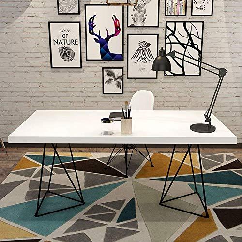 Decoración de muebles Escritorio de oficina de madera Cuaderno para el hogar Mesa para computadora Escritorio de estudio de madera clara Sala de recepción Estación de trabajo para oficina en casa (