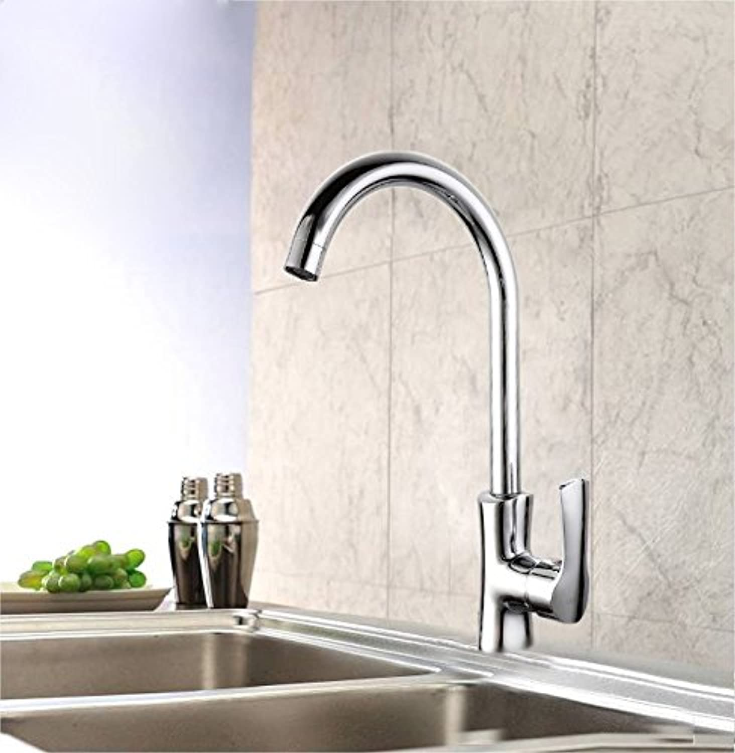 Commercial Single Lever Pull Down Kitchen Sink Faucet Brass Constructed Polished Full Copper Jade Pillow Single Handle Kitchen Faucet Sink Hot and Cold Water Mixing Basin Mixer