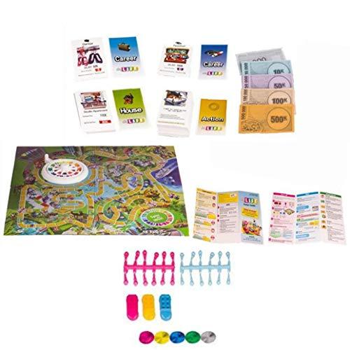 Hotaden Lebens-Brettspiel Karte Spiel Funny Great Family Gaming Cards für Karriere Urlaub Choices Eltern-Kind-Interaktion Partei Freunde