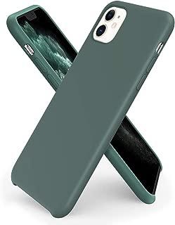 ORNARTO Liquid Silicone Case for iPhone 11, Slim Liquid Silicone Soft Gel Rubber Case Cover for Apple iPhone 11(2019) 6.1 inch-Pine Green