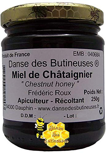 Miel de Châtaignier Pot de 250g / DIRECT PRODUCTEUR / Produit de France.