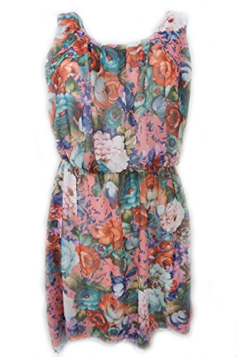 GLW Fashion -  Vestito  - Triangolo - Senza Maniche - Donna Multicolore Mehrfärbig 42/44