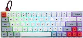 EPOMAKER GK68XS 68 Keys Hot-swap RGB Bluetooth5.1 Wireless/Wired Mechanical Keyboard with Split Spacebar Module, 1900mAh B...
