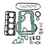 Hachiparts 15421-03310 Revisión Junta Kit 17356-03310 1542103310 Compatible con Motor Kubot a V1701 V1702 V1702B V1702-DI Excavadora 645 733 743 KH90 Tractor L2850F L355DTSS L355SS