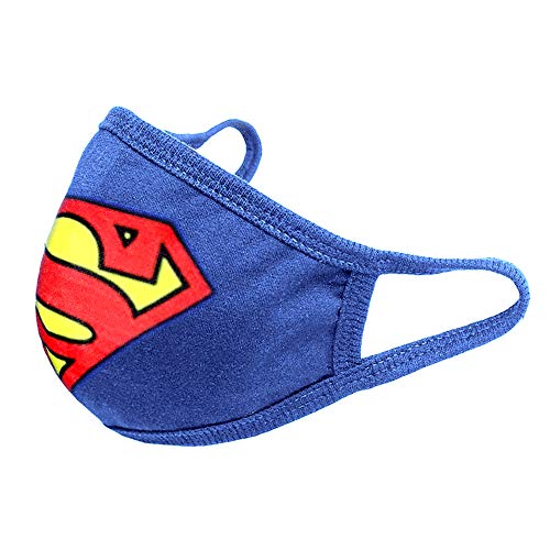 Kids Face Mask for Boys Playing Superhero Child Filter Mouth Masks with 10 Filter Replacements Blue