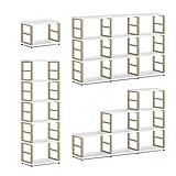 REGALRAUM MAXX 1x2 Regalsystem/Bücherwand | modular & flexibel | 60x76x33 cm (LxHxT) - weiß/Eiche